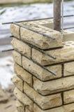 Coluna da construção do tijolo Imagens de Stock Royalty Free