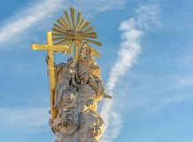 Coluna da coluna do praga da trindade santamente em Baden perto de Viena Áustria imagens de stock