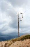 Coluna da eletricidade imagem de stock