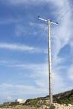 Coluna da eletricidade foto de stock