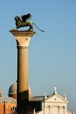 Coluna da marca de Saint, Veneza foto de stock