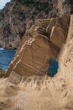 Coluna da pedra de Atlantis Fotos de Stock