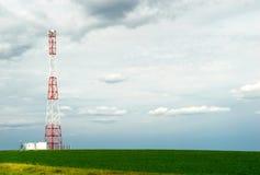 Coluna da telecomunicação imagem de stock royalty free