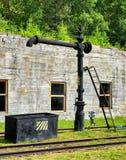 Coluna da torneira de água para locomotivas de enchimento com água imagens de stock royalty free