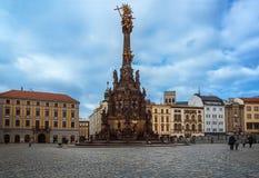 Coluna da trindade - Olomouc - República Checa fotografia de stock