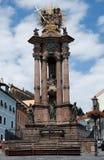 Coluna da trindade santamente, Banska Stiavnica fotografia de stock