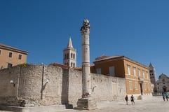 Coluna da vergonha, Zadar, Croácia fotografia de stock royalty free