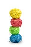 Pilha de bolas coloridas das lãs Imagem de Stock Royalty Free