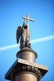 Coluna de Alexander com anjo fotos de stock royalty free