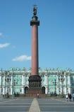 Coluna de Alexander, quadrado do palácio e palácio do inverno Imagens de Stock Royalty Free