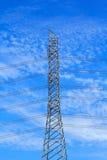 Coluna de alta tensão elétrica do metal Imagem de Stock