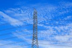 Coluna de alta tensão elétrica do metal Imagens de Stock