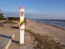 Coluna de beira de Lituânia Foto de Stock