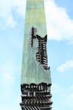 Coluna de cobre foto de stock