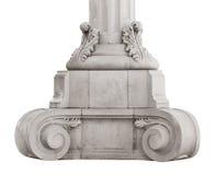 Coluna de mármore antiga baixa fotografia de stock royalty free