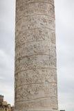A coluna de mármore de Trajan fotos de stock