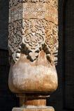 Coluna de madeira cinzelada, Usbequistão imagens de stock