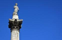 Coluna de Nelsonâs, quadrado de Trafalgar Fotografia de Stock