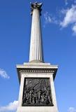 Coluna de Nelson em Londres Fotografia de Stock Royalty Free