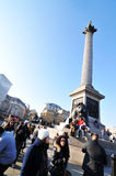 Coluna de Nelson, Londres Imagens de Stock