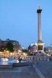 Coluna de Nelson no crepúsculo Fotos de Stock Royalty Free