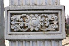 Coluna de pedra do detalhe Fotografia de Stock Royalty Free