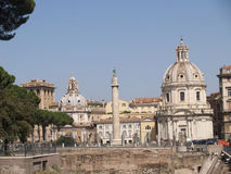 Coluna de Roma Trajan Fotos de Stock