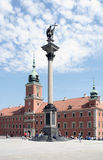 Coluna de Sigmunds e castelo real em Wrasaw Imagem de Stock Royalty Free