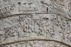 Coluna de Tajan Coluna triunfal romana em Roma fotos de stock