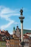 Coluna de Zigmunt, Varsóvia Imagens de Stock