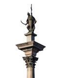 Coluna de Zygmunt no branco fotos de stock royalty free