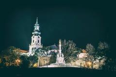 Coluna do castelo e do praga, Nitra, filtro análogo imagens de stock royalty free