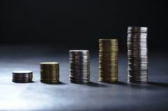 Coluna do dinheiro Fotografia de Stock Royalty Free