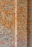 Coluna do eith da parede de tijolo fotos de stock