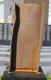 Coluna do local do World Trade Center no memorial do 11 de setembro em Bayonne, New-jersey Fotografia de Stock Royalty Free