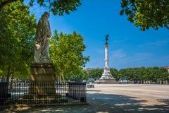 Coluna do memorial de Girondins no Bordéus imagem de stock