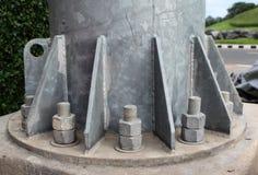Coluna do metal baixo fotos de stock royalty free