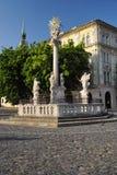 Coluna do praga de St.Trinity, foto de stock