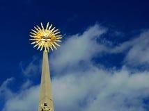 Coluna do praga na república checa da praça da cidade de Mikulov foto de stock royalty free