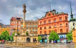 A coluna do praga no quadrado da liberdade em Brno, República Checa imagem de stock royalty free