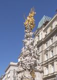 A coluna do praga ou coluna da trindade, Viena, Áustria foto de stock