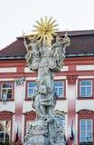 Coluna do trinity santamente, Brno, Moravia, república checa Fotografia de Stock