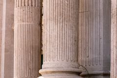 Coluna doric grega imagens de stock