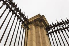 Coluna e barras coloniais Foto de Stock