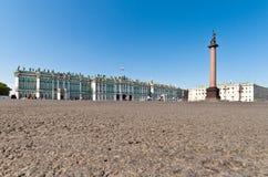 Coluna e eremitério de Alexander Fotografia de Stock Royalty Free