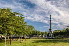 Coluna e parque de Victoria em Copenhaga Fotografia de Stock Royalty Free