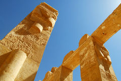 Coluna e roteiro egípcios antigos fotos de stock royalty free