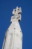 Coluna em escadas da fonte da cascata em Yerevan, Armênia fotos de stock