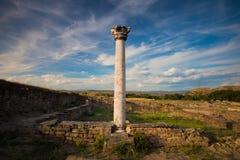Coluna em Stobi fotografia de stock