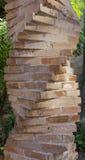 Coluna espiral do tijolo fotografia de stock royalty free